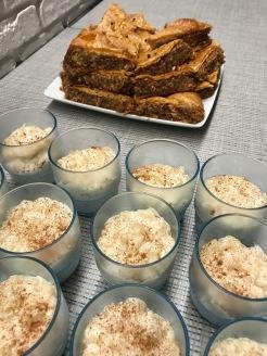 Rice Pudding & Baklava
